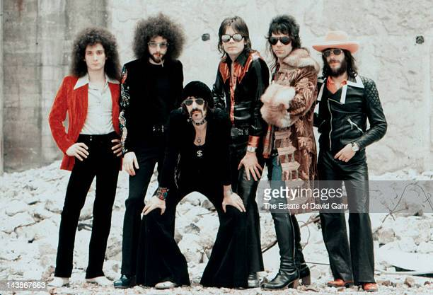 Rock group J Geils Band pose for a portrait in June 1974 in New York City New York