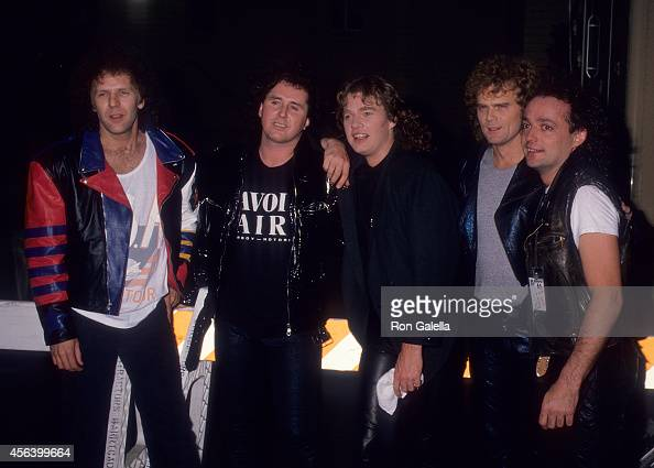 Rock group Loverboy attends MTV's PreTaped Concerts for New Year's Eve Special on December 15 1987 at the Country Club in Reseda California