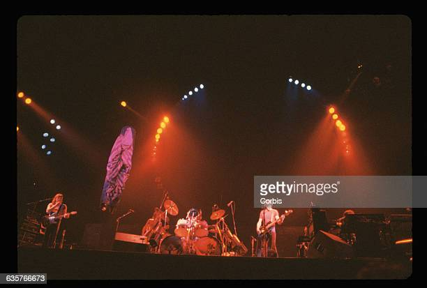 Rock group Pink Floyd plays at the 1977 Day on the Green concert at the Oakland Coliseum