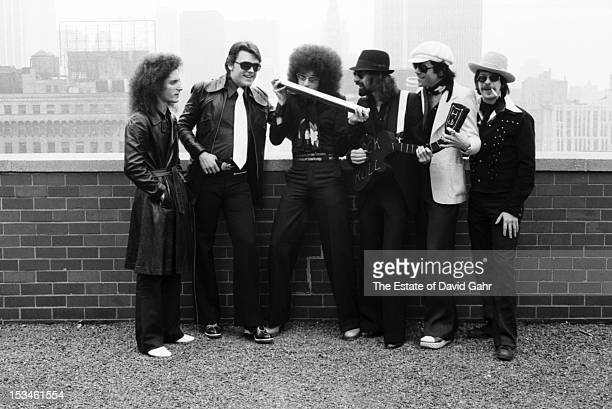 Rock group the J Geils Band pose for a portrait on June 12 1974 in New York City New York