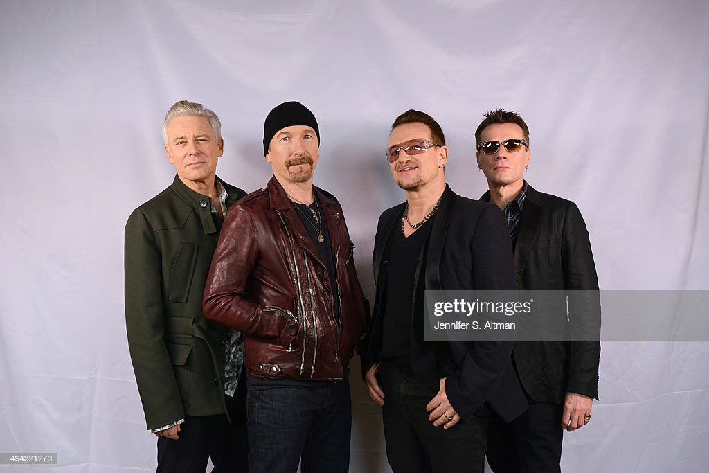 Rock group <a gi-track='captionPersonalityLinkClicked' href=/galleries/search?phrase=U2&family=editorial&specificpeople=201268 ng-click='$event.stopPropagation()'>U2</a> is photographed for Los Angeles Times on December 7, 2013 in New York City.