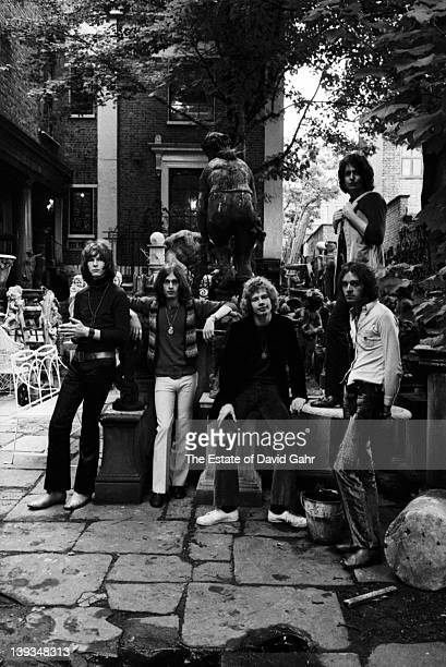 Rock group Yes pose for a portrait in July 1969 in London Great Britain