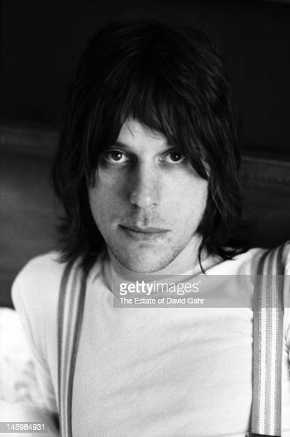 Rock guitarist Jeff Beck poses for a portrait in March 1972 in New York Ciity New York