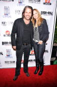 Rock guitarist Kip Winger arrives with wife Paula at the premiere party for VH1 Classic's 'Rock 'N' Roll Fantasy Camp' TV show on October 5 2010 in...