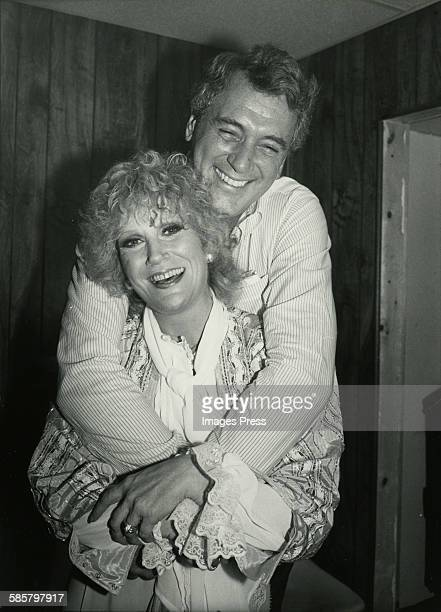 Rock Hudson visits with Dusty Springfield backstage circa 1980 in New York City