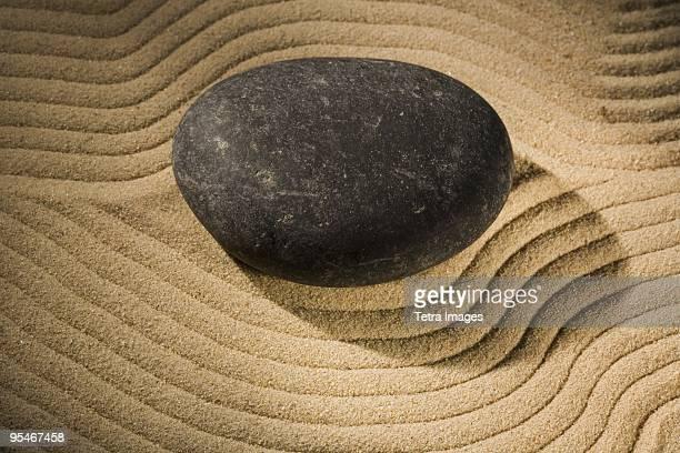 Rock in Zen garden