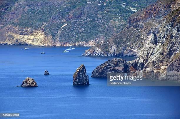 Rock Islets called Faraglioni on Lipari island