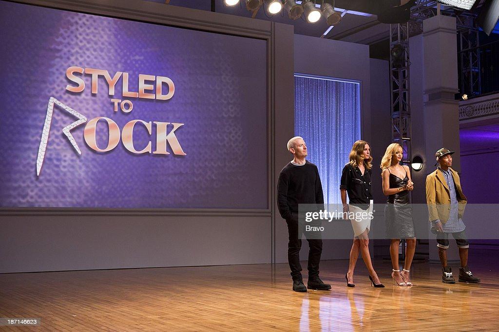 ROCK 'Rock it for Rihanna' Episode 101 Pictured Judges Mel Ottenberg Erin Wasson host Robyn Rihanna Fenty judge Pharrell Williams