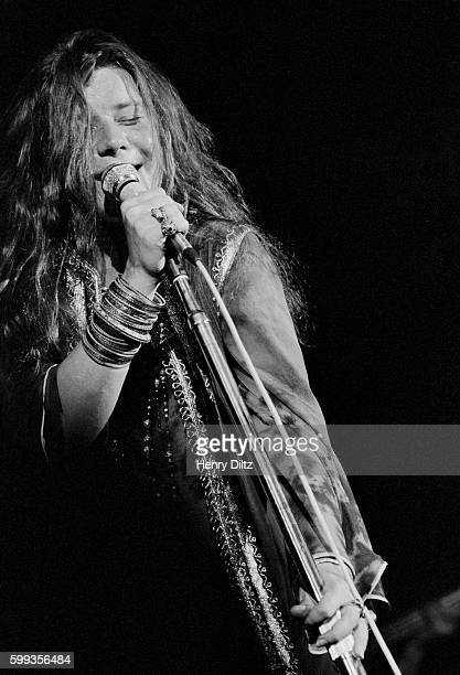 Rock music legend Janis Joplin performs at the free Woodstock Music and Art Fair The festival took place on Max Yasgur's dairy farm which he rented...