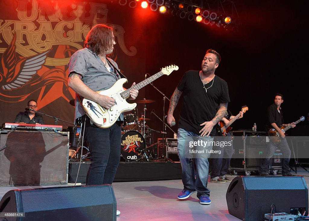 Rock musician Uncle Kracker performs during the Under The Sun Tour at The Greek Theatre on August 12 2014 in Los Angeles California