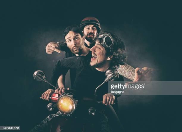 Rock Musicians having fun
