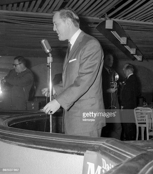 Rock n roll singer Bill Haley performs with his band the Comets on stage at Hammersmith February 1957