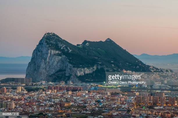 Rock of Gibraltar viewed from Spain