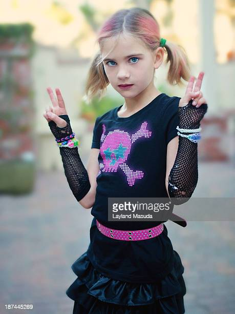 Rock Out - Little Girl In Halloween Costume