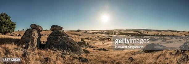 rock outcrops in Australian landscape