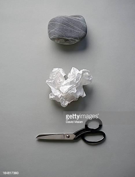Rock, paper & scissors.