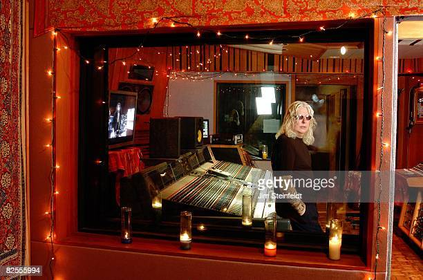 Rock producer Roy Thomas Baker poses for a portrait at The Village Recording Studio in Los Angeles California on December 9 2005