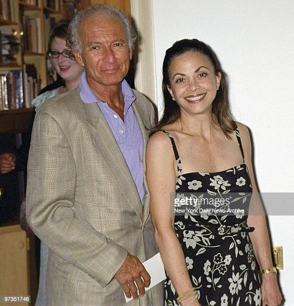 Rock promoter Ron Delsener and wife arrive at Trudie Styler's Central Park West digs for a party before a screening of the movie 'Greenfingers' The...