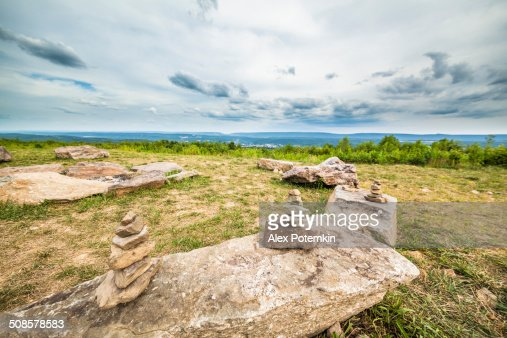 Rock Pyramiden in Flagstaff Mountain Park, Pennsylvania : Stock-Foto