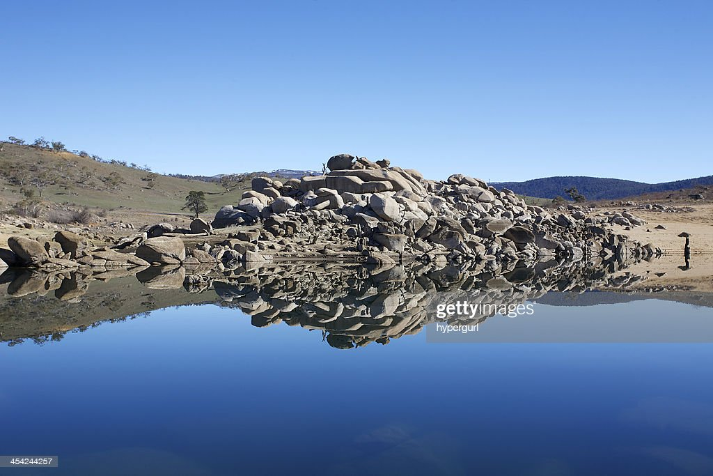 Rock Reflections Mirror Image : Stock Photo
