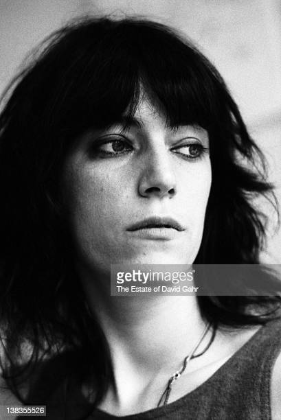 Rock singer and poet Patti Smith poses for a portrait in her studio in 1972 on West 23rd Street in New York City New York