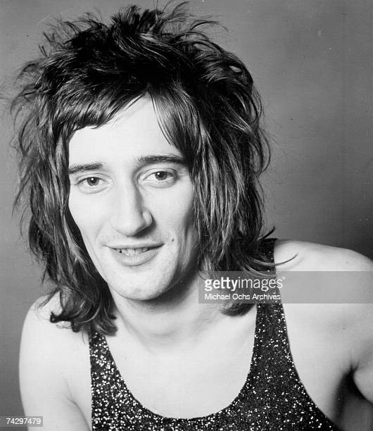 Rock singer Rod Stewart poses for a portrait in circa 1971