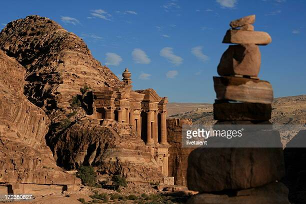 Rock stack at the Monastery in Petra, Jordan