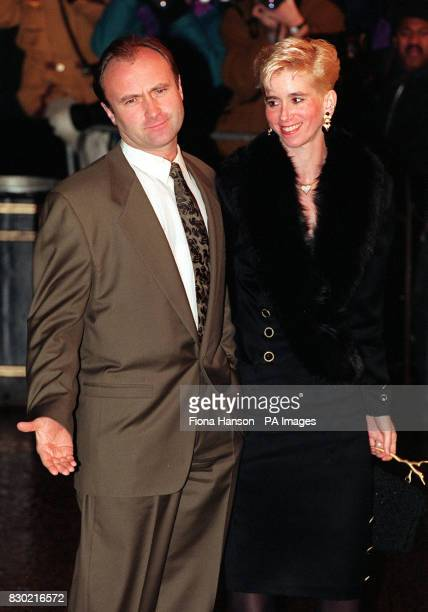 Rock star and actor Phil Collins and his second wife Jill attend the film premiere of Bram Stoker's Dracula at the Odeon Leicester Square 22/7/99...