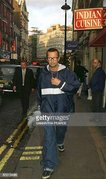 Rock star Eric Clapton arriving at the Photographers Gallery Covent Garden in London this evening for an exhibition of still pictures taken on the...