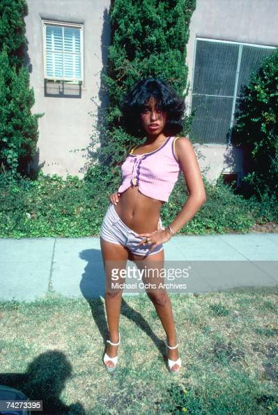 Rock star groupie Lori Maddox poses for a portrait in August of 1974 in Los Angeles California
