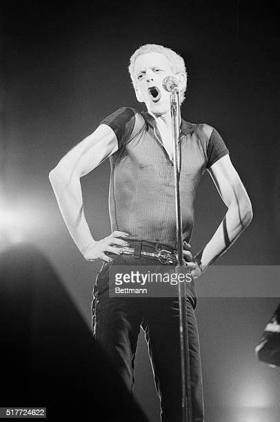 Rock star Lou Reed during a Brussels appearance May 1974