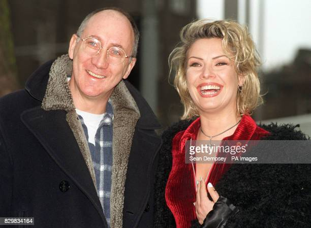 Rock star Pete Townshend in London this morning with singer Kim Wilde who is to make her West End debut as Mrs Walker in the musical 'Tommy' The rock...