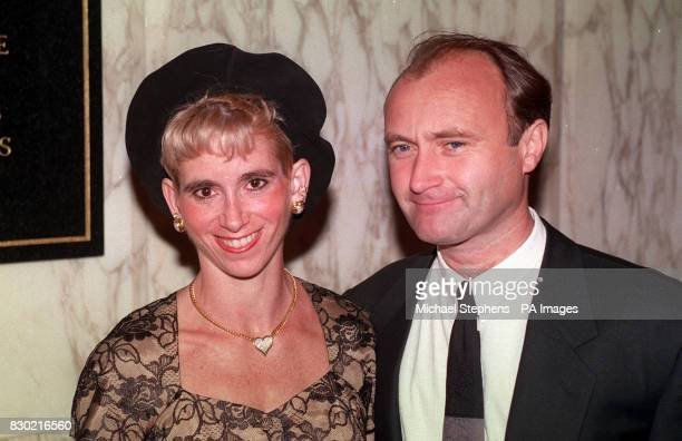 Rock star Phil Collins with his second wife Jill at the royal premiere of the new Spielberg film Jurassic Park at the Empire Leicester Square 22/7/99...