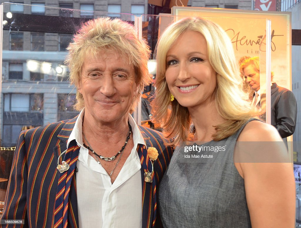 AMERICA - Rock star Rod Stewart performs live on GOOD MORNING AMERICA, 5/9/13, airing on the ABC Television Network. (Photo by Ida Mae Astute/ABC via Getty Images) ROD STEWART, LARA SPENCER