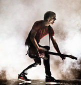 Rock Star with his guitar.