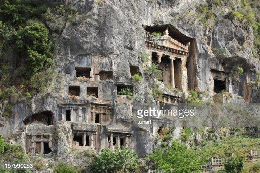 Rock Tombs in Fethiye, Turkey