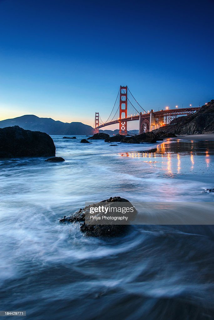 Rock with Golden Gate