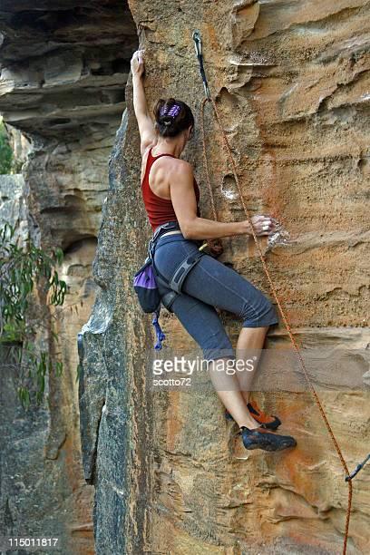 Rockclimbing femme
