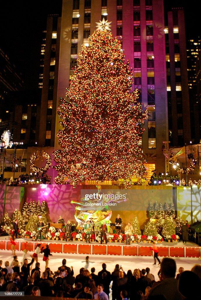 rockefeller center christmas tree during 72nd annual rockefeller center christmas tree lighting ceremony in new york - New York Christmas Tree Lighting