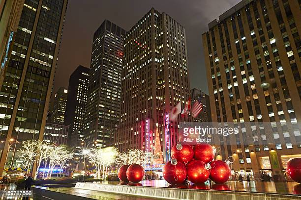 Rockefeller centre with Christmas decorations