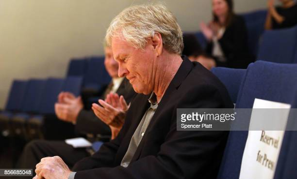 Rockefeller University biologist Michael Young pauses before speaking to students and faculty after winning the Nobel Prize in Physiology on October...