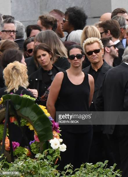 Rocker Billy Idol attends the funeral and memorial service for Soundgarden frontman Chris Cornell May 26 2017 at Hollywood Forever Cemetery in Los...
