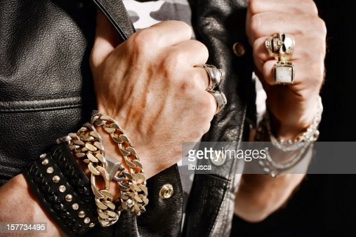 Rocker/Biker studio portraits
