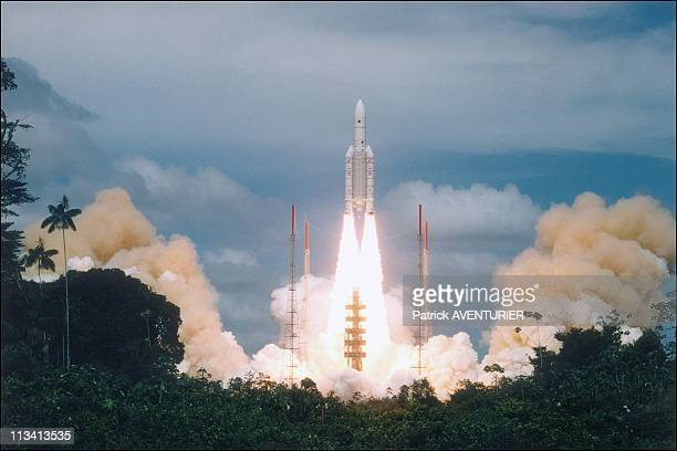 Rocket Ariane V Launching On October 30th 1997 In KourouFrance