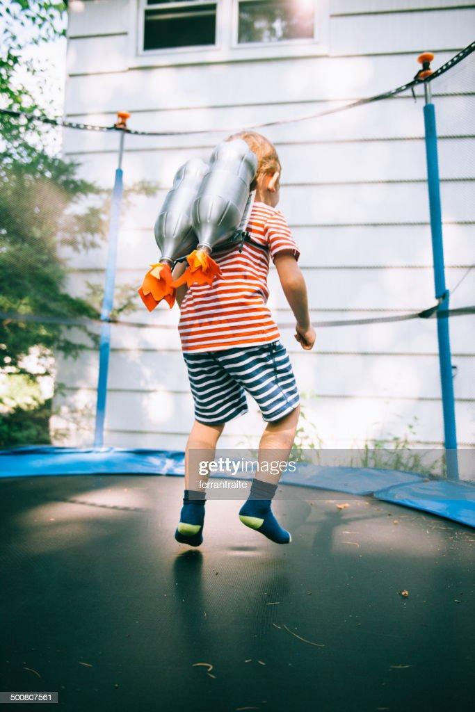 Rocket Boy Taking Off
