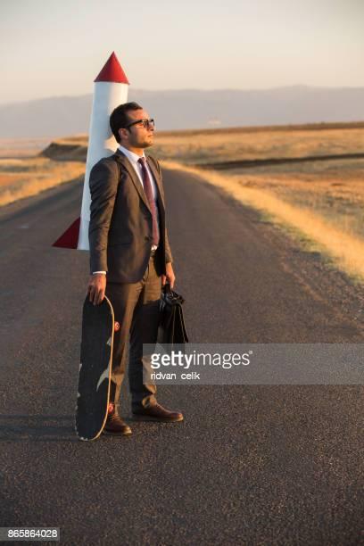 ロケット ビジネス男性