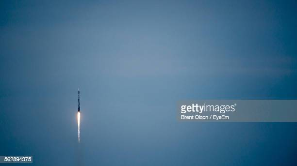 Rocket In Blue Sky
