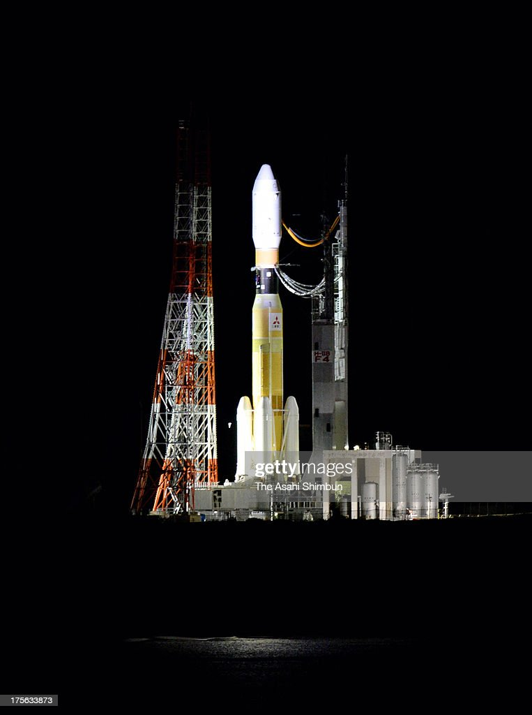 H-IIB rocket of the Japan Aerospace Exploration Agency (JAXA) sits at the launch pad at JAXA's Tanegashima Space Center on August 3, 2013 in Minamitane, Kagoshima, Japan. The launch vehicle carries a cargo transpoter to the International Space Station 'Konotori (HTV4)' along with a Humanoid robot Kirobo, which will be a companion for Japanese astronauts Koichi Wakata at the ISS.