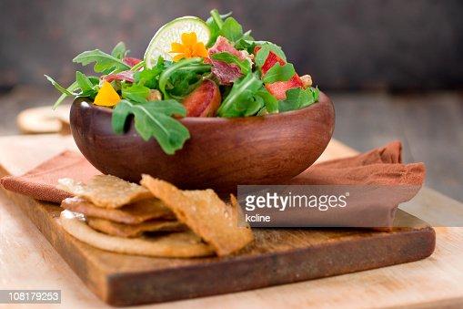 Rocket & Plum Salad : Stock Photo