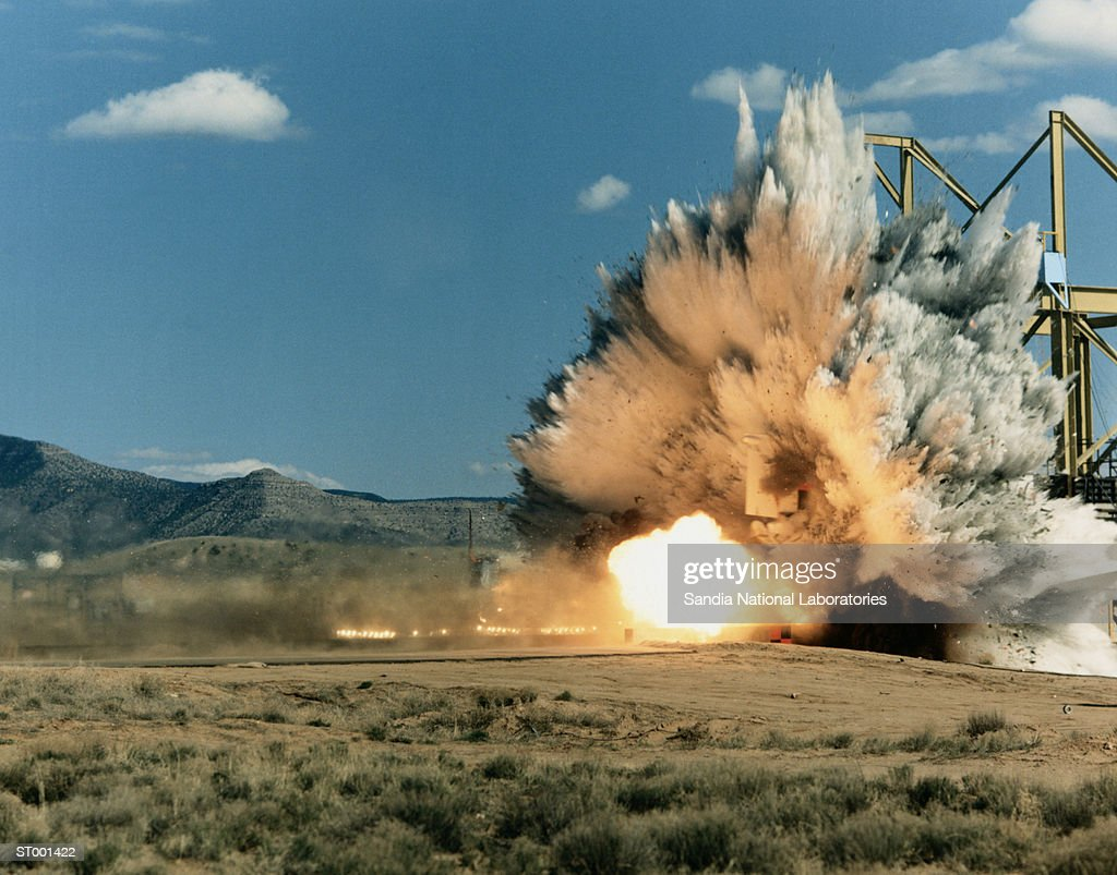Rocket Sled Test of F-4 Phantom Jet : Stock Photo